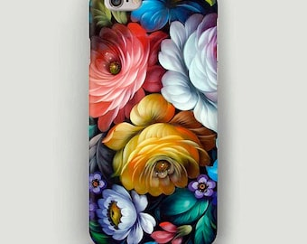 Flower Ornament iPhone 6 Case, Flowers iPhone 7 Plus Case, Womens iPhone Case, iPhone 5s Case, iPhone SE Case, Phone Cover, Gift for Wife