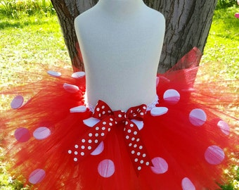 Minnie mouse inspired tutu valentine tutu Red tutu White Polka dots red tutu polka dot tutu photo prop Halloween tutu birthday dress up