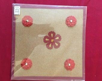 Pretty flowers card