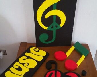 Rasta Music Symbol Kit