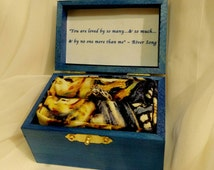 "Dr. Who 11th Doctor Van Gogh inspired Ringbox ~ Quote inside: ""You are loved by so many & so much and by no one more than me"" ~ River Song"