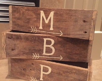 Planter box customizable with painted name