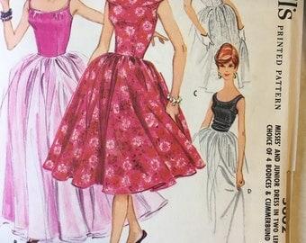 1960 McCall's Dress Pattern 5602