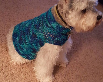 Handmade crocheted soft winter sweater made to order for your dog!