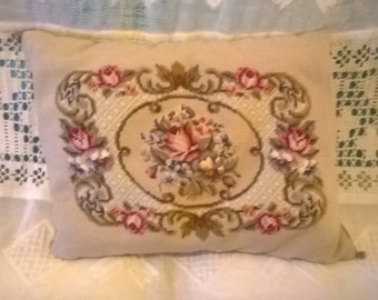 Shabby tapestry cushion hopeless