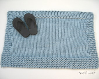 Knitted Floor Mat, Tshirt Yarn
