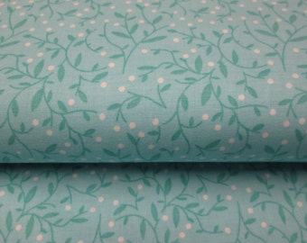 flowered blue cotton fabrics, cotton fabric sold by the yard