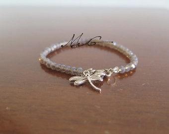 Grey Dragonfly bracelet