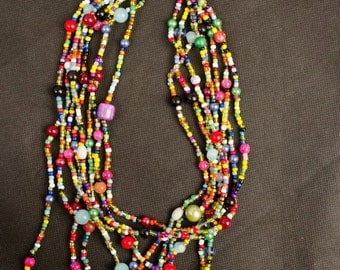 Chunky MultiStrand Beaded Necklace