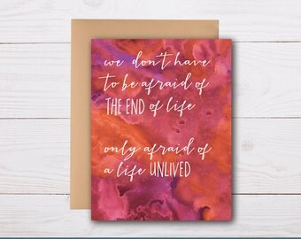 a life well lived - sympathy card, grief card, bereavement card