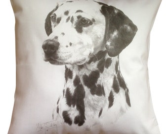 Dalmation MS Cotton Cushion Cover - Cream or White Cover - Gift Item