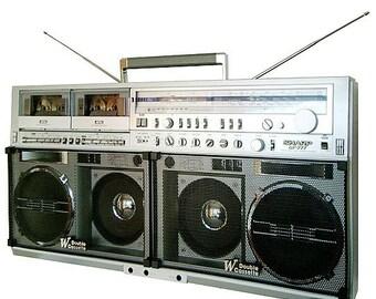 SHARP GF-777 boombox radio hip hop boom box t shirt