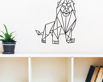 Geometric Lion Wall Decal Sticker VC0240