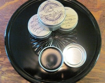 Old Fashioned Black Drawing Salve in 2 oz tin, healing salve, salve for insect bites, organic healing salve