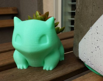 Bulbasaur Planter, Pokemon Planter, Succulent Planter, Air Planter Many Colors