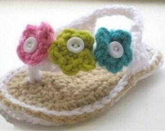 Flower crochet Flip Flops