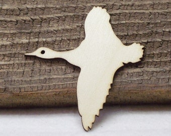 Wood Laser Cutout of a Flying Goose