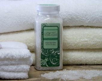 Bath Salts (100% Pure Dead Sea Salt), Body Soak, 16 oz in Eucalyptus & Spearmint