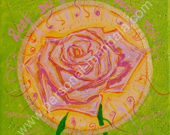 """Rose of happiness"" mandala (Reproduction on canvas)"