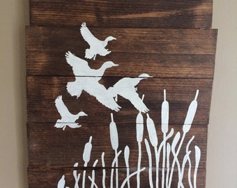 Duck Hunter Sign - Hunting Wood Sign - Man Cave Wood Sign - Outdoor Wood Sign - Hunting Lover