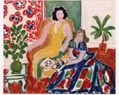 Henri Matisse 1942 Engraving w/COA Incredible Unique 1940s Matisse Art Print. Invest or Gift Exclusive & Particularly Rare Art FREE SHIPPING