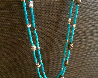 Blue sky necklace