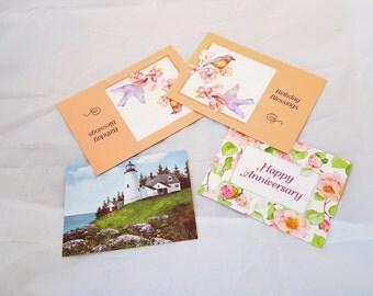 Set of Four Vintage Greeting Cards