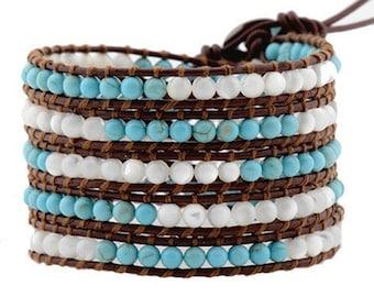 Baby Perls&Turquoise Wrap Bracelet