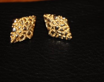 Vintage Gold Coloured 90's Earrings