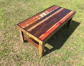Reclaimed Wood Coffee Table Hand Crafted Rustic
