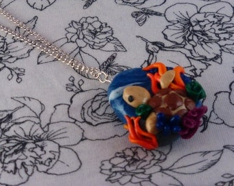 Polymer Clay Turtle Necklace