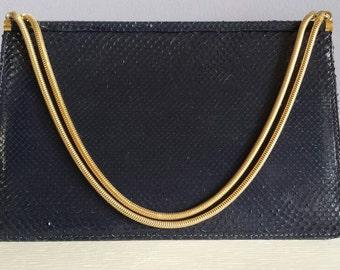 Elegant vintage handtasje - slangenleer