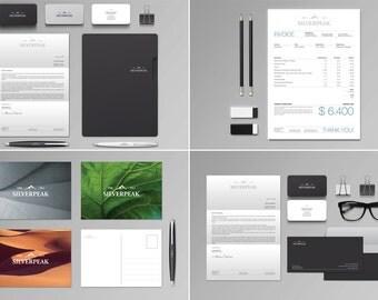 Silverpeak Stationery Set & Invoice