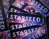 "Starseed Sticker - Esoteric and Metaphysical Accessory - 5"" Weatherproof Bumper Sticker - New Age, Crystal, Indigo, Rainbow Children"