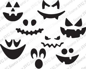 Svg - Pumpkin Face SVg - Pumpkin Faces | Pumpkin Svg - Pumpkin Clipart | Jack-O-Lantern SVG  | Jack O Lantern Clip Art