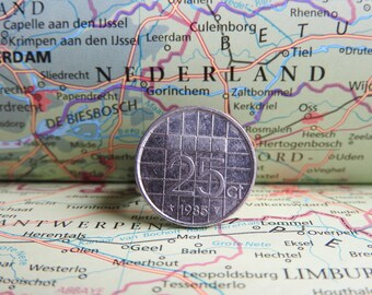 Netherlands quarter coin ring in birth year 1990 - 1991 - 1992 - 1993 - 1994 - 1995 - 1996 - 1997 - 1998 - 1999 - 2000