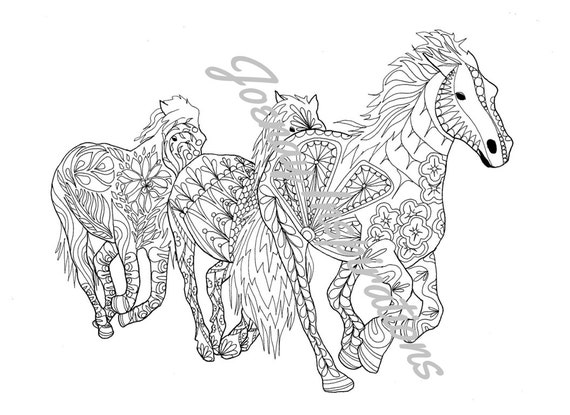 Adult Coloring Book, Printable Coloring Pages, Coloring Pages, Coloring Book for Adults, Instant Download, Amazing Animals 3 page 2