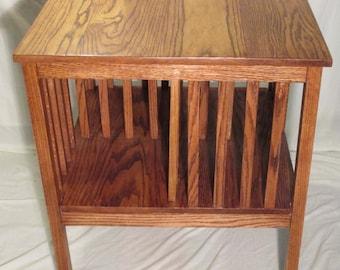 Handmade Craftsman Oak Side Table