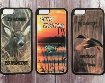 Iphone 5/5s, 6/6s, 6+ and Samsung S5, S6,  S6Edge hunting & fishing phone case
