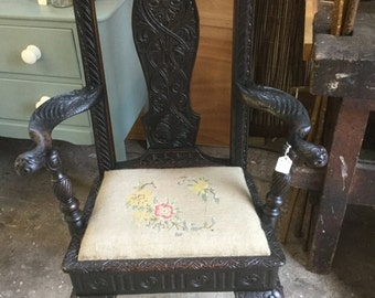 Victorian gothic occasional chair