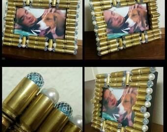 Bullet Frame, .45 Ammo Frame, 4*6 Frame, .45 Bullet Frame, Bullet Decor, Ammo Decor, Picture Frame