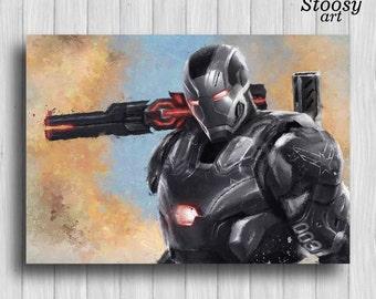 war machine marvel civil war poster iron man print marvel wall art iron man decor