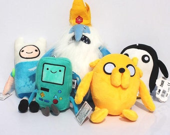 Adventure Time, Jake, Finn, Beemo, Ice King,Gunter,Keyring,Keychain,Soft toy,Plush