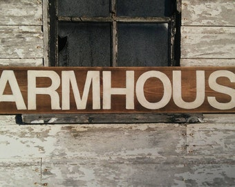 Farmhouse sign/rustic/wood/hand painted