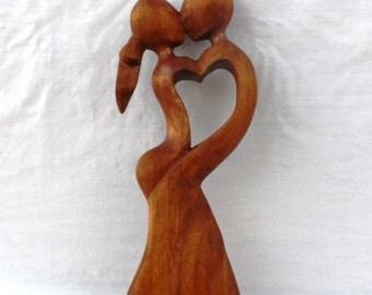 dancing, wood carving (ab509)
