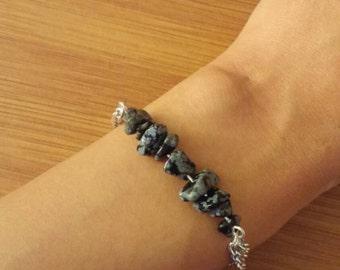Silver Stone Chip Bracelets