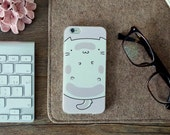 iPhone 6 Case iPhone 6s case iPhone Case 6 iphone Case 6s + FREE Shipping - Fat cat - Transparent - Rose and white - Fun and cute - Slim
