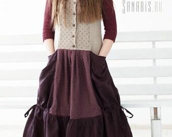 Linen Maxi Tank Dress, Long Ladies Boho Dress, Womens Linen Dress