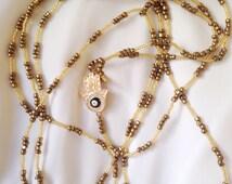 HAMSA Beaded Body Chain