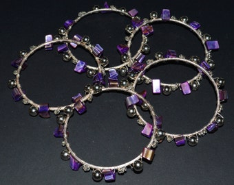 Purple Shell Bangle